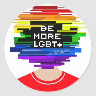 Be More LGBTQ Be More Chill Design Classic Round Sticker