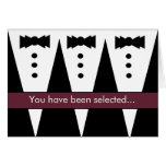 Be My Best Man Invitation FUNNY Customisable V01 Greeting Card