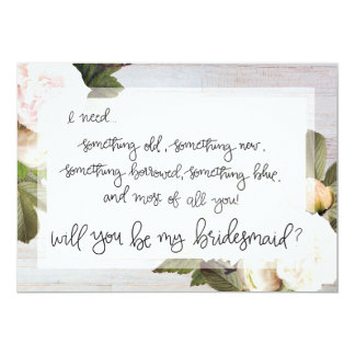 Be My Bridemaid | Bridal Party Asking Card