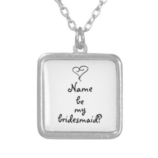 be my bridesamid? heart necklace
