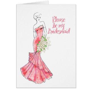 be my bridesmaid greeting card