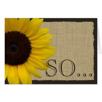 Be My Bridesmaid Rustic Sunflower Note Card