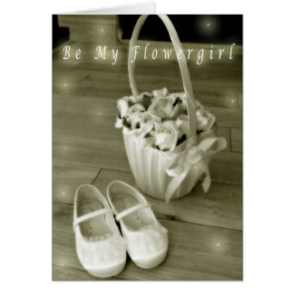 Be my flowergirl card
