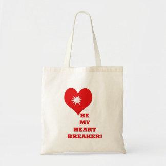 Be my heart breaker! tote bags