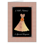 Be My Junior Bridesmaid  - GOLD Leaf Dress