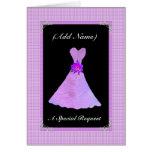 Be My Junior Bridesmaid  - PURPLE Leaf Dress Cards
