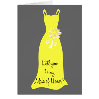 Be my Maid of Honor? Greeting Card