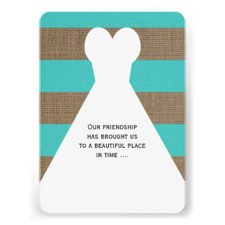 Be My Maid of Honor Poem Invitations Turquoise