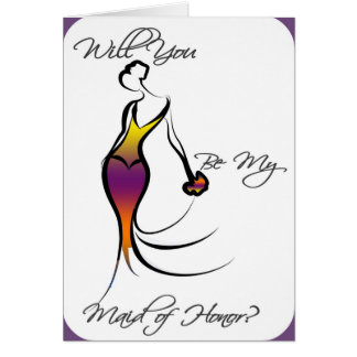 Be My Maid of Honour Card - Gorgeous Retro!