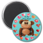 Be My Prime Mate Monkey Personalised Magnet