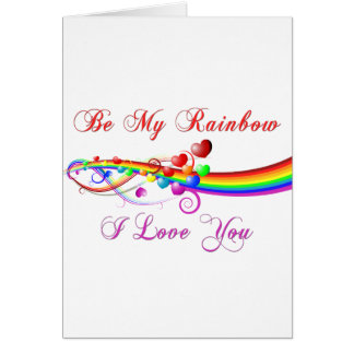 be my rainbow gay valentine card