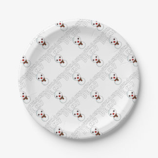 be my snowman paper plate