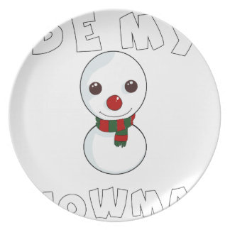 be my snowman plate