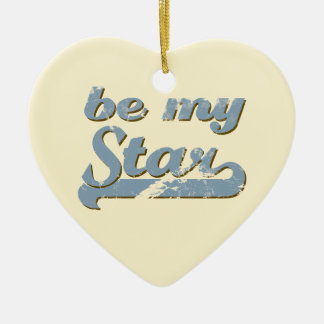 Be my Star Ceramic Heart Decoration