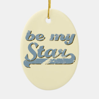 Be my Star Ceramic Oval Decoration