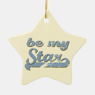 Be my Star Ceramic Star Decoration