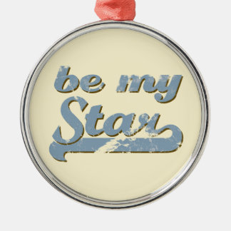 Be my Star Silver-Colored Round Decoration
