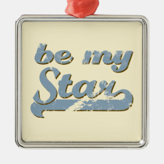 Be my Star Silver-Colored Square Decoration
