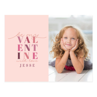BE MY VAL ENT INE POSTCARD