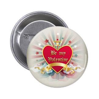 Be my Valentine button