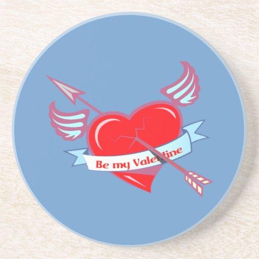 BE my valentine Coasters