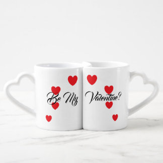 """Be My Valentine?"" Couple's Mug Set"