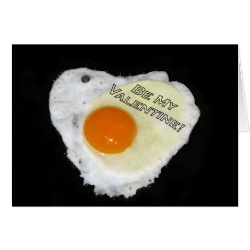 Be My Valentine. Egg and Pepper Card