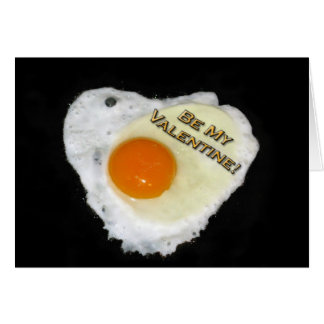 Be My Valentine. Egg Heart. Salt and Pepper Greeting Cards