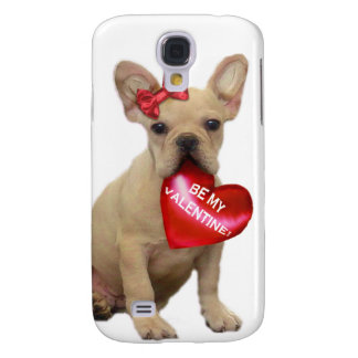 Be my Valentine French Bulldog  iphone 3G Speck Ca Samsung Galaxy S4 Cover