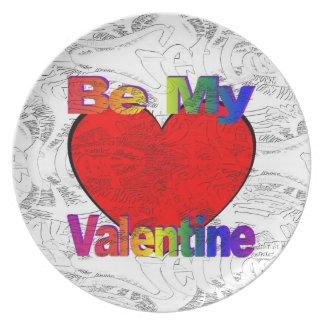 Be My Valentine - Get Lost Dinner Plate