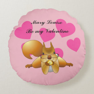 Be My Valentine Personalised Round Cushion