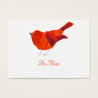 Be My Valentine  Red Bird Business Card