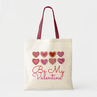 Be My Valentine Red Heart Cookies Valentine's Tote
