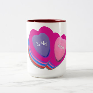 Be My Valentine Two-Tone Coffee Mug