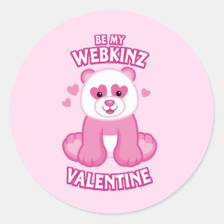 Be My Webkinz Valentine Classic Round Sticker