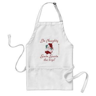 Be Naughty Santa Aprons
