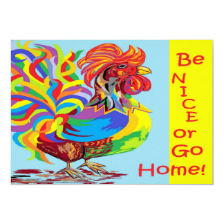 Be Nice or Go Home Card