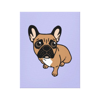 Be nice to the cute black mask fawn Frenchie Canvas Print