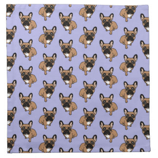 Be nice to the cute black mask fawn Frenchie Napkin