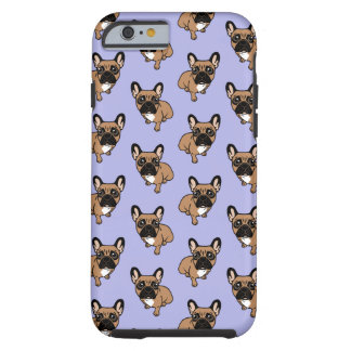 Be nice to the cute black mask fawn Frenchie Tough iPhone 6 Case