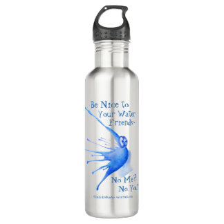 Be Nice to Your Water Friends! Water Bottle