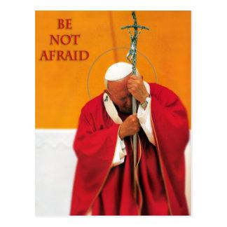 BE NOT AFRAID ST JOHN PAUL II POSTCARD