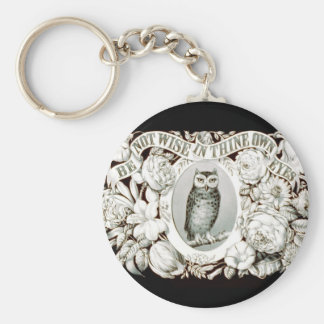 Be Not Wise in Thine Own Eyes Christian Art 1872 Key Ring