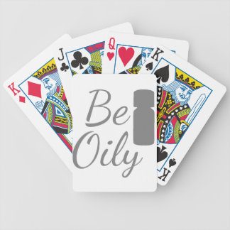 Be Oily Bicycle Playing Cards