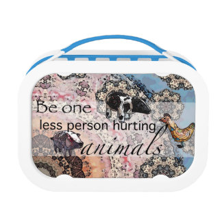 Be one less person hurting animals lunch box