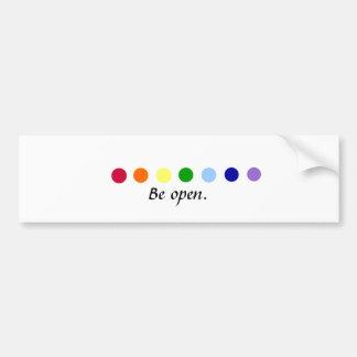 Be Open - Chakra Bumper Sticker