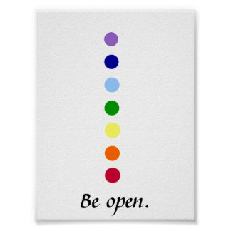 Be Open - Chakra Poster