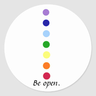 Be Open - Simple Chakra Design Stickers