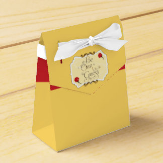 BE OUR GUEST Red Rose Birthday Party Favor Boxes Favour Box