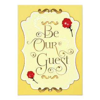 BE OUR GUEST Red Roses Elegant Event Invitation